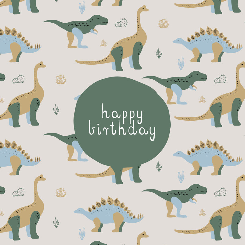 CARD BIRTHDAY - DINOSAURS