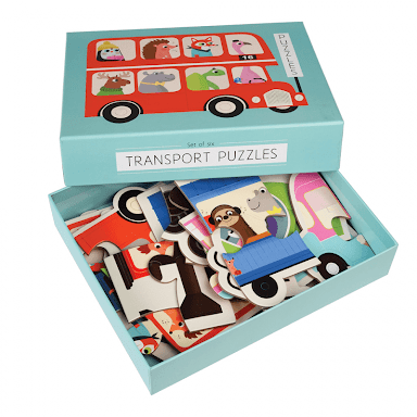 TRANSPORT PUZZLES  SET OF 6