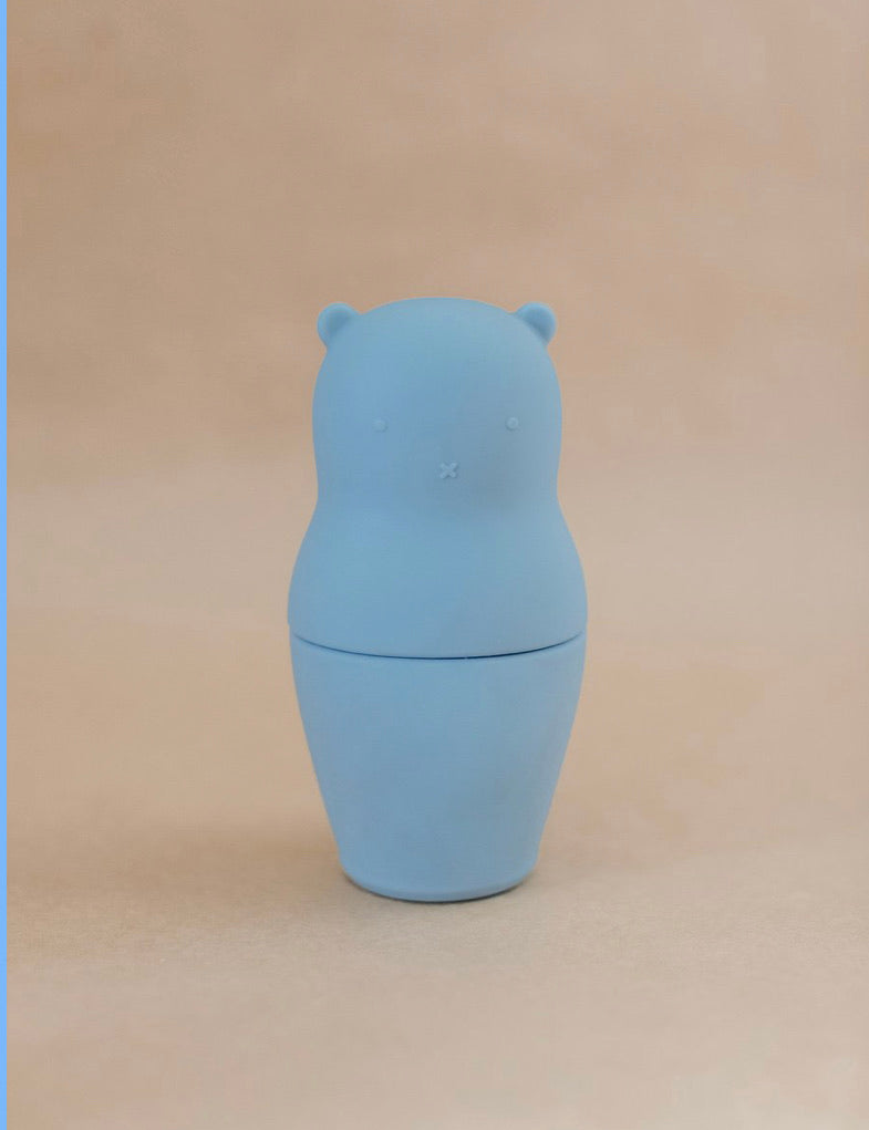 BLUE SILICONE BEAR MATRYOSHKA