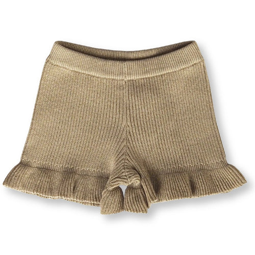 GROWN RIBBED FRILL SHORTS - GOLDIE