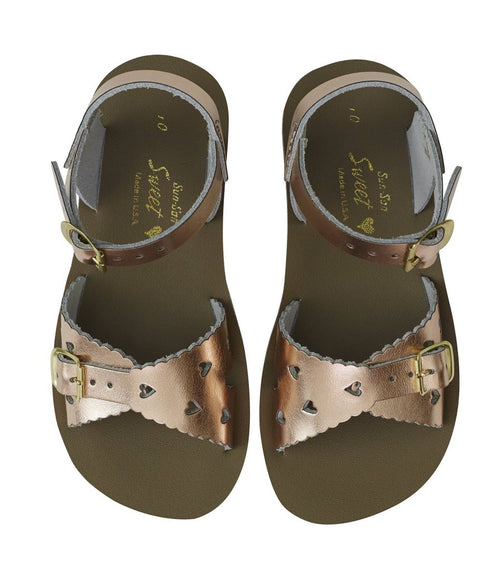 SALTWATER SWEETHEART SANDAL  ROSE GOLD