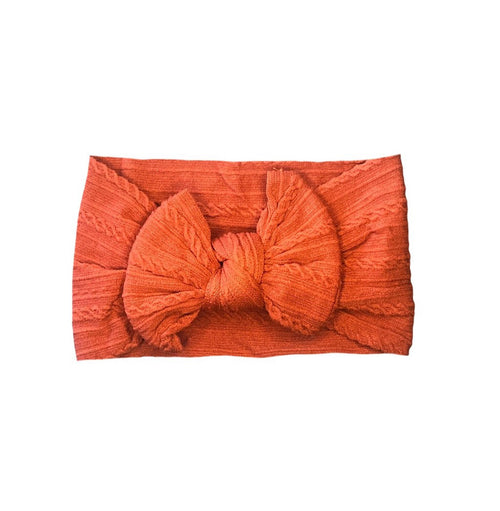 ARCH N OLLIE CABLE KNOT HEADBAND RUST
