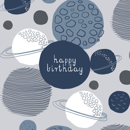 CARD BIRTHDAY - PLANETS
