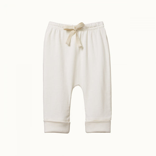 NATURE BABY DRAWSTRING PANTS NATURAL