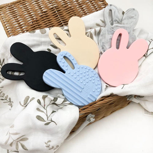 BUNNY TEETHING DISC -  CREAM