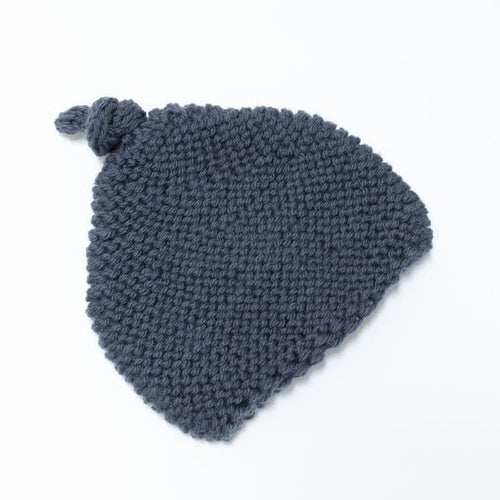 KNITTED BY NANA BEANIE SLATE