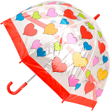 KIDS PRINT BIRDCAGE UMBRELLA HEARTS