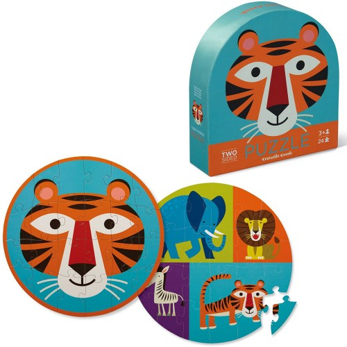 TIGER FRIENDS 2 SIDED PUZZLE 24 PIECES