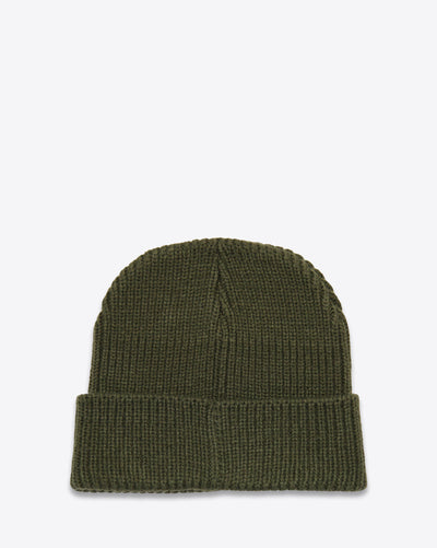 CDG RIBBED BEANIE ARMY GREEN - DEMEANOIR - 2