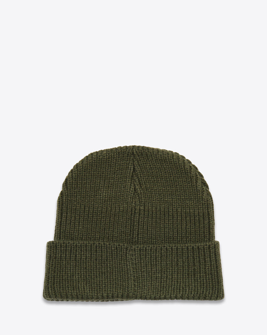 CDG RIBBED BEANIE ARMY GREEN - DEMEANOIR - 1