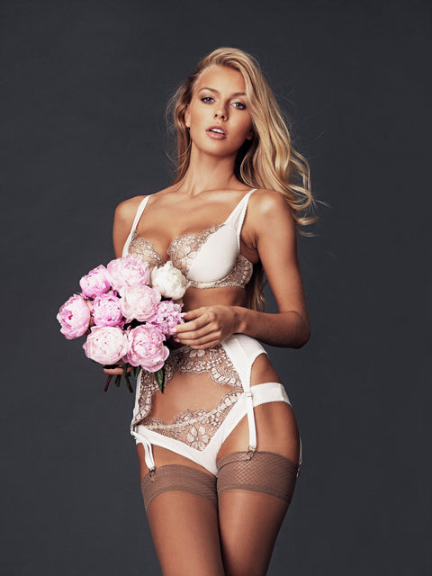 Luxury Bridal Lingerie - Ivory Floral Chantilly Lace - Shop Online