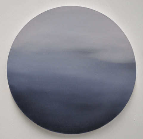 Large Dot 01 Reverie 40cm diameter Oil on Board 2015