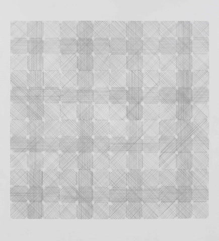 Plaid 100x70cm Graphite on Paper 2008
