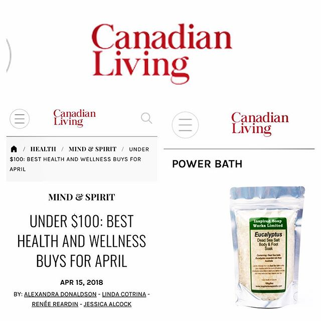 Canadian Living Best Health and Wellness Picks for April We Made the List!!!