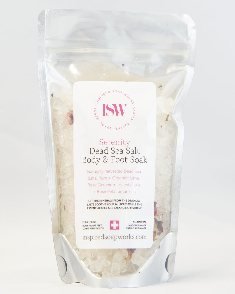 Dead Sea Salt Body & Foot Soak Serenity Blend 8oz