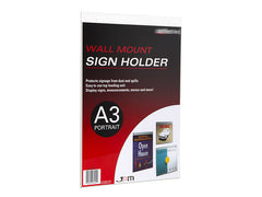 Wall Mounted Single Top Loading Sided Display - Portrait