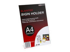 Slanted Sign Holders - Portrait