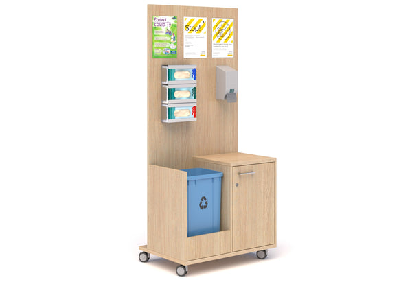 Sanitisation Booth with Bin Compartment