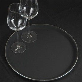 Black Round Drinks Tray