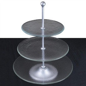 Glass Cake Stand - 3 Tier