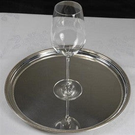 Silver Round Drinks Tray