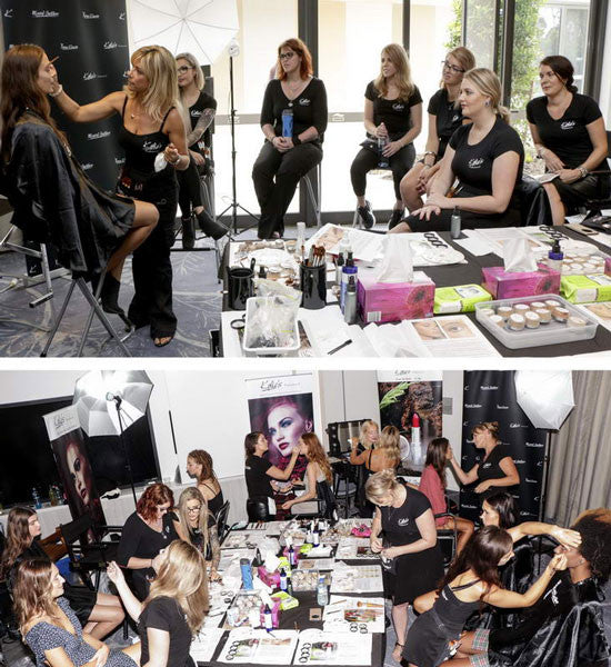 Backstage Makeup action Kylies Professional Team