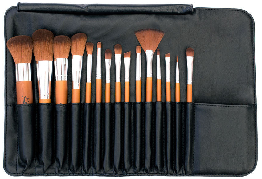 Kylie's Luxury 15pc Professional Brush Roll Set - Kylies Professional Makeup