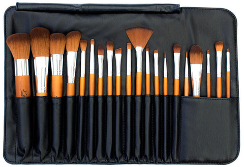Kylie's Luxury 20pc Professional Brush Roll Set - Kylies Professional Makeup