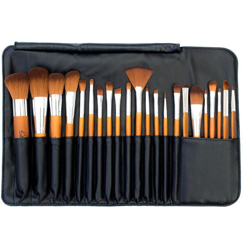 Kylie's Luxury 22pc Professional Brush Roll Set - Kylies Professional Makeup