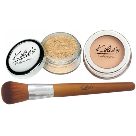Mother's Day Special. Powder & cream foundations + #3 long handle Kabuki