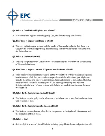 Larger Catechism (Downloadable PDF Format)
