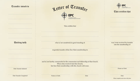 Letters of Transfer