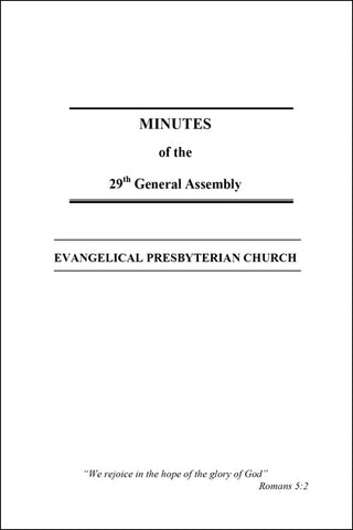 Minutes of the 29th General Assembly (Downloadable PDF Format)