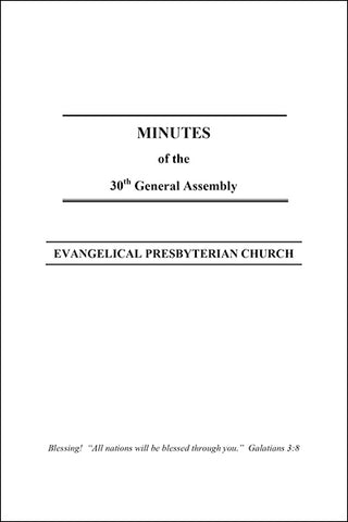 Minutes of the 30th General Assembly (PDF Download)