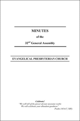 Minutes of the 32nd General Assembly (Downloadable PDF Format)