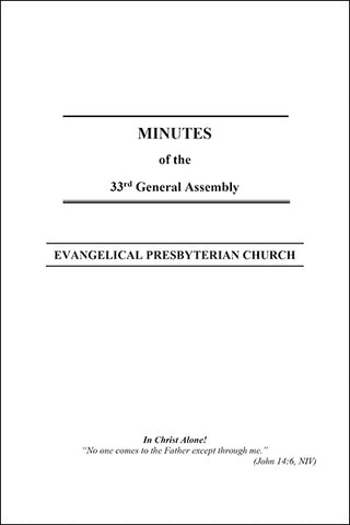 Minutes of the 33rd General Assembly (Downloadable PDF Format)