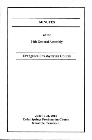 Minutes Of The 34th General Assembly Paperback Book Format Epc