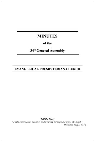 Minutes of the 34th General Assembly (Downloadable PDF Format)