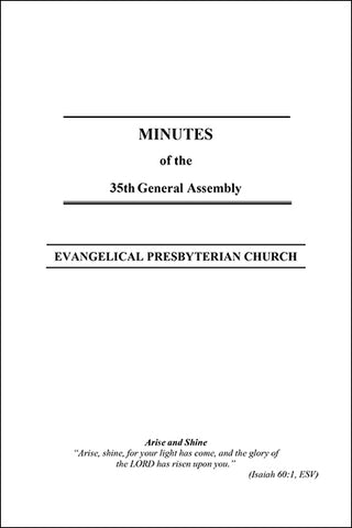 Minutes of the 35th General Assembly (Downloadable PDF Format)