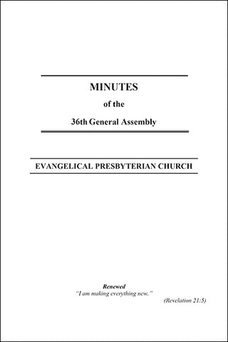 Minutes of the 36th General Assembly (Downloadable PDF Format)
