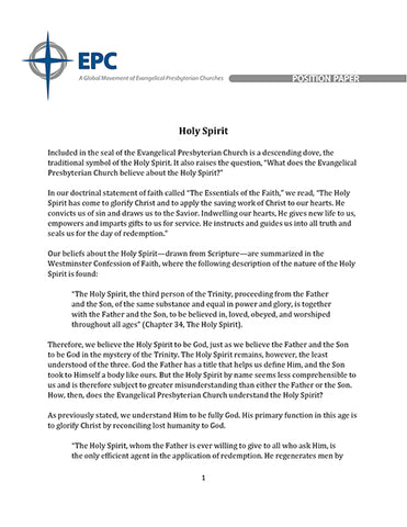 Position Paper on the Holy Spirit (Downloadable PDF Format)