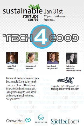 StartSLC Sustainable Startups Series: Tech 4 Good