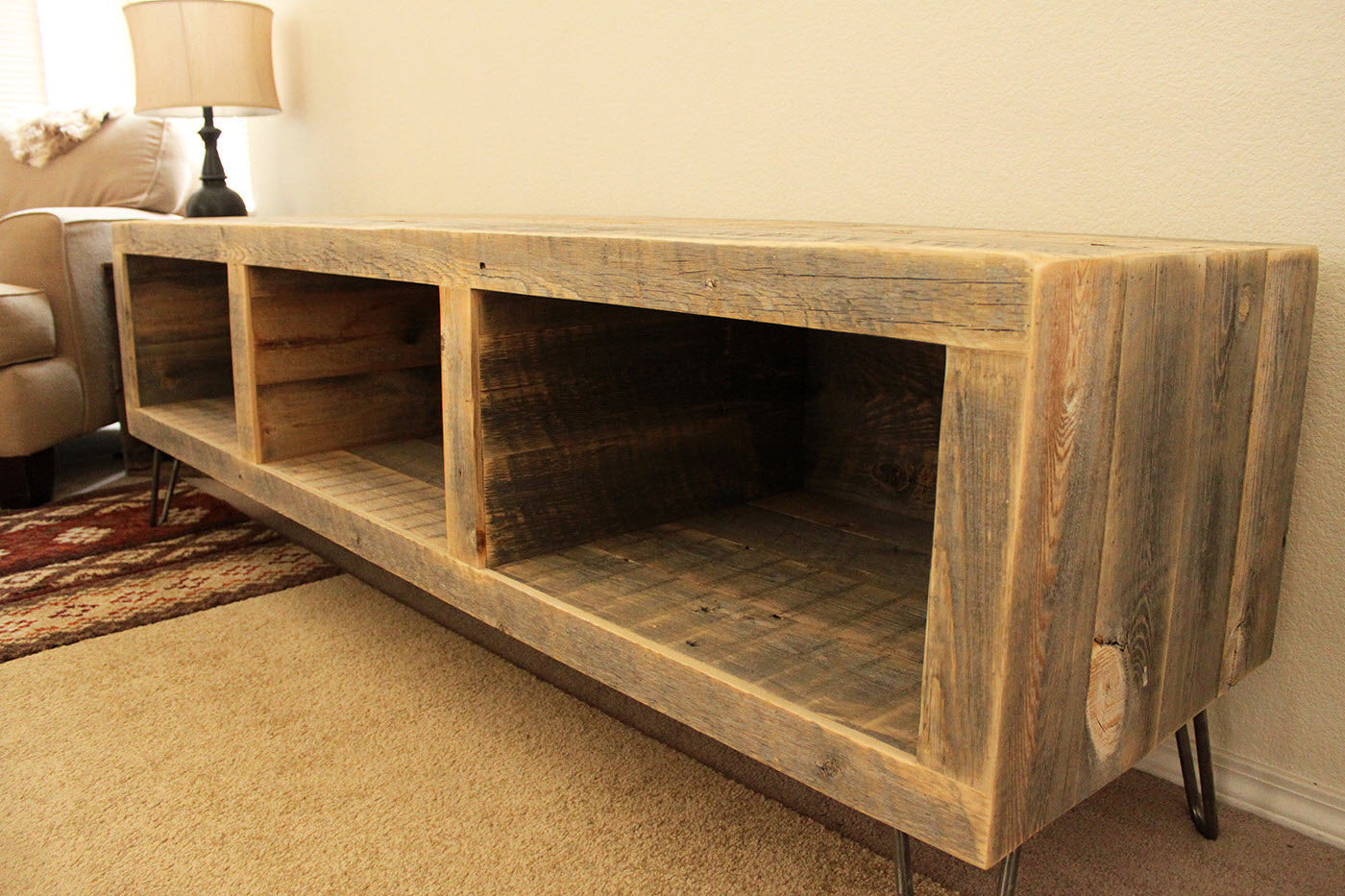 Reclaimed Wood 65 Quot Media Console The Spotted Door