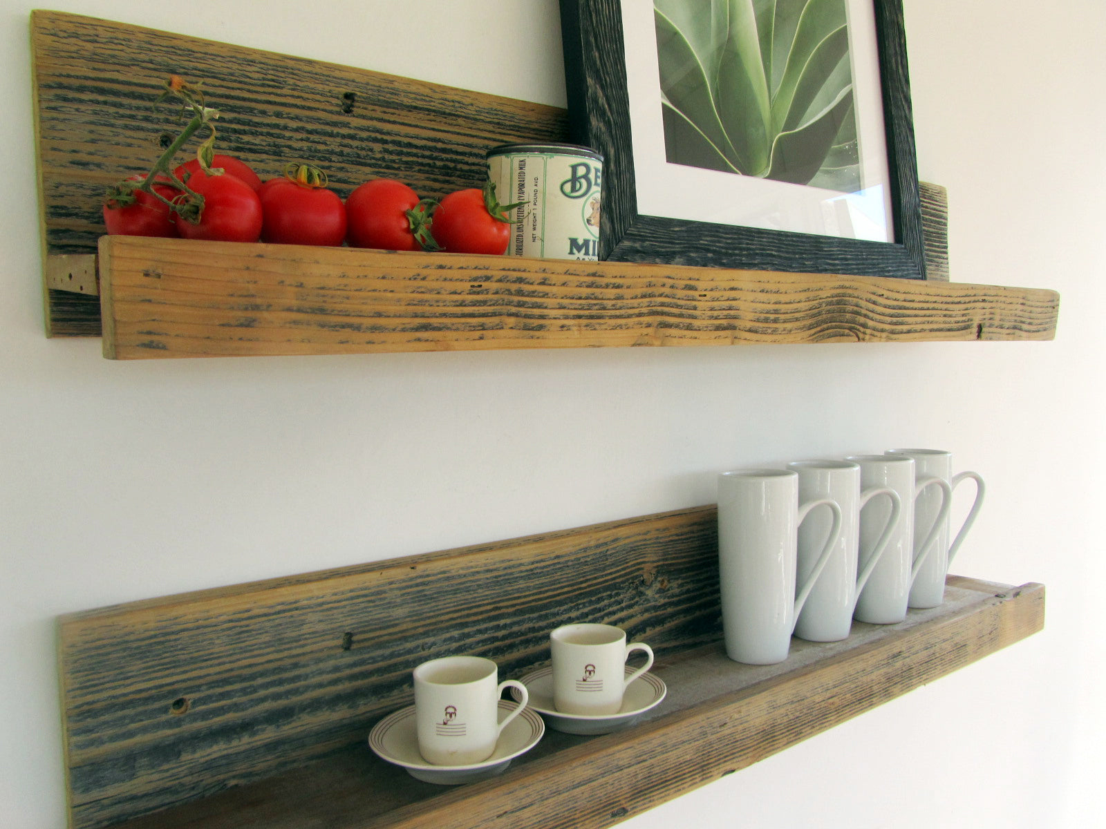 24 rustic reclaimed wood ledge shelf the spotted door