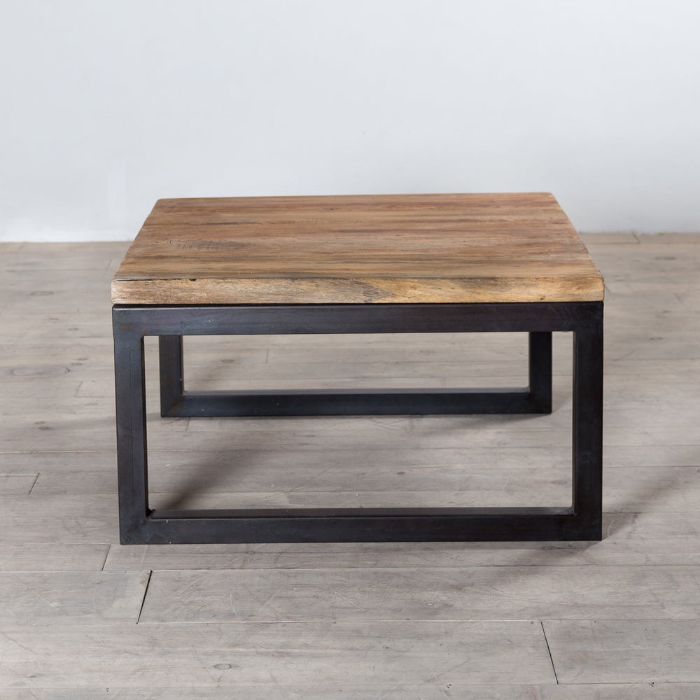 Weathered Iron Reclaimed Wood Coffee Table The Spotted Door
