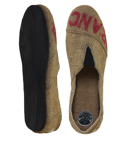 Speedrilles Burlap Slip-On Shoes