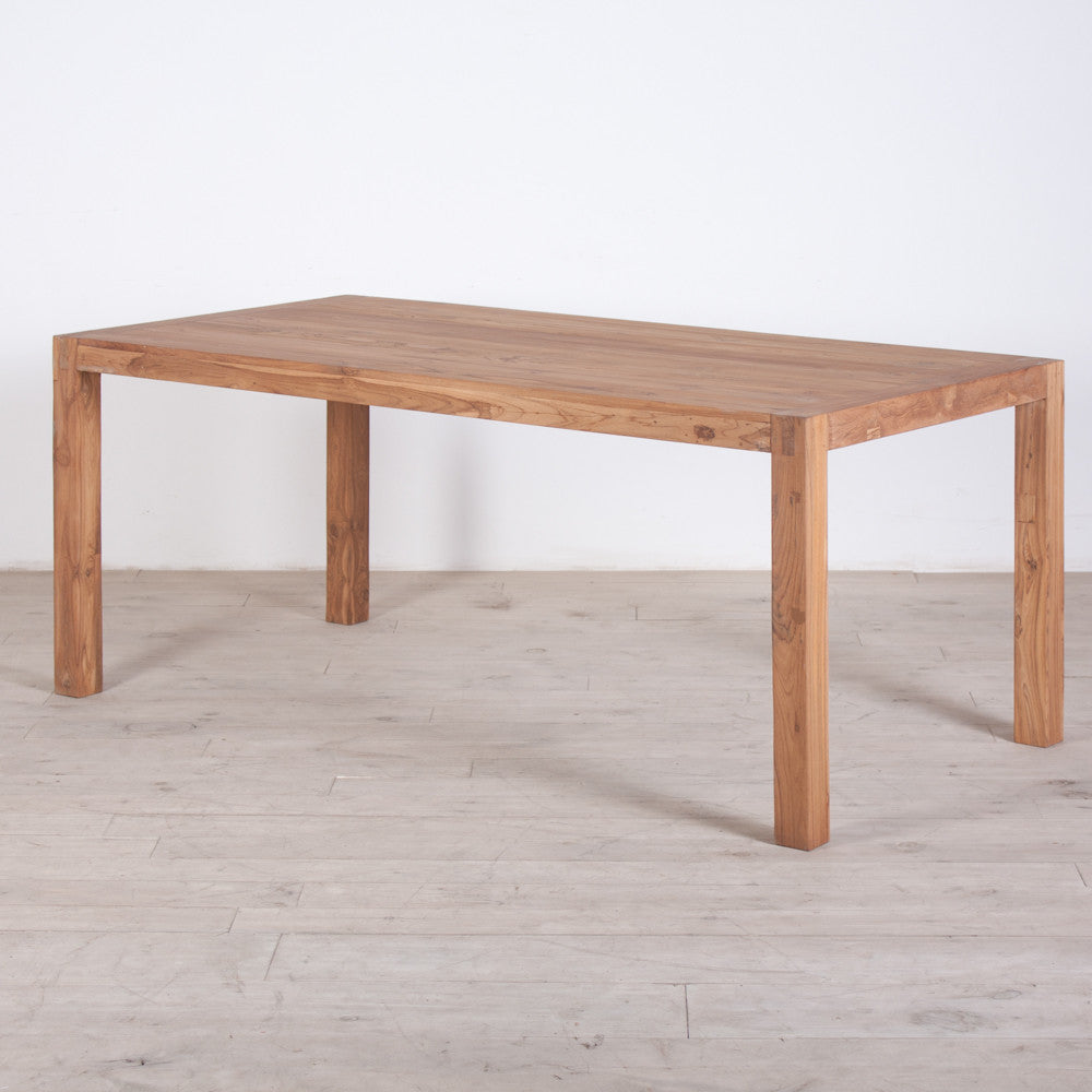 Reclaimed Teak Dining Table Kitchen Furniture The Spotted Door