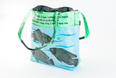 Feed Bag Barrel Tote