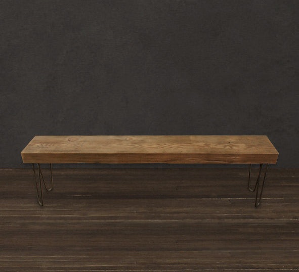 Excellent 4 Solid Reclaimed Wood Beam Bench Ibusinesslaw Wood Chair Design Ideas Ibusinesslaworg