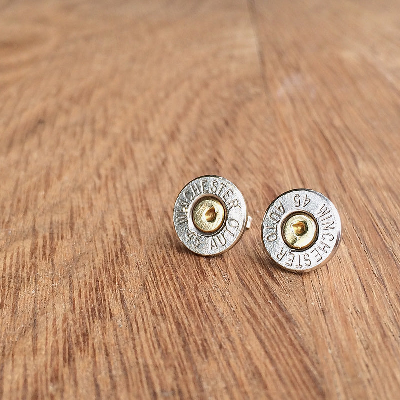45 Caliber Bullet Earrings